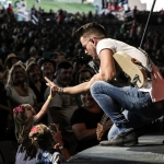 Chase Bryant opening for Brad Paisley in Hartford on August 6, 2017 / Photo by Shawn St. Jean