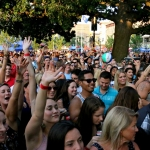 The crowd was fired up for Easton Corbin at Alive at Five in Stamford CT on August 4, 2016.