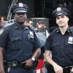 NYC's finest at FarmBorough Festival in New York City on June 27, 2015.
