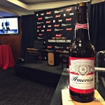 Hanging out with Budweiser before the show, waiting on The Cadillac Three for a private acoustic set at Madison Square Garden, August 25, 2016