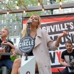 Kelsea Ballerini performing in Bryant Park NYC on September 9, 2015.