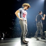 Luke Bryan with Dustin Lynch at Mohegan Sun on the 2016 Kill The Lights Tour, February 27, 2016.