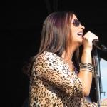 Sara Evans at the Woodstock Fair in Woodstock CT on September 1, 2014.
