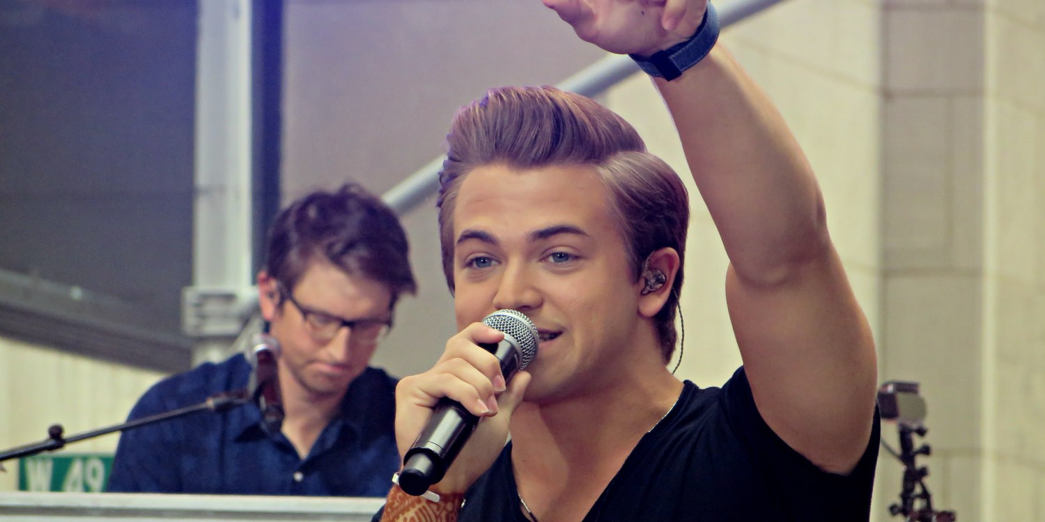 Hunter Hayes on the Today Show in NYC on August 22, 2014.