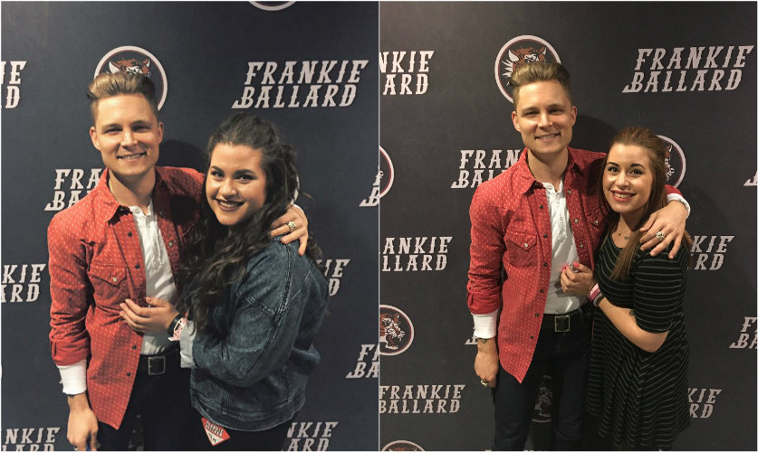 Kelsey and Amanda Melendez with Frankie Ballard at the NYCB Theatre at Westbury