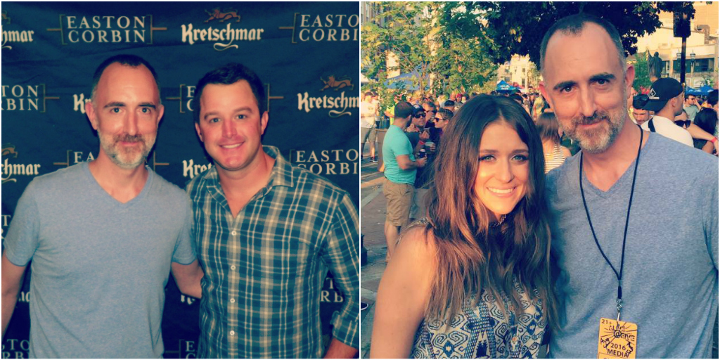 The Country Scene's Shawn St. Jean with Easton Corbin and Courtney Cole
