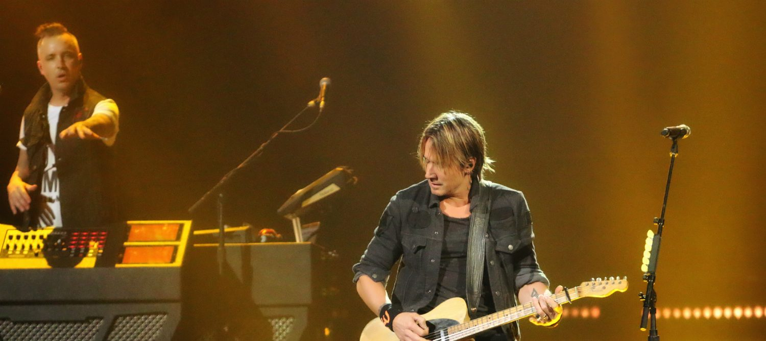 Keith Urban at Brooklyn's Barclays Center on November 19, 2016.