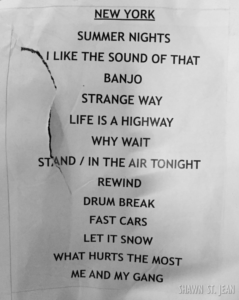 Setlist from the Rascal Flatts show at MSG on November 14, 2016.