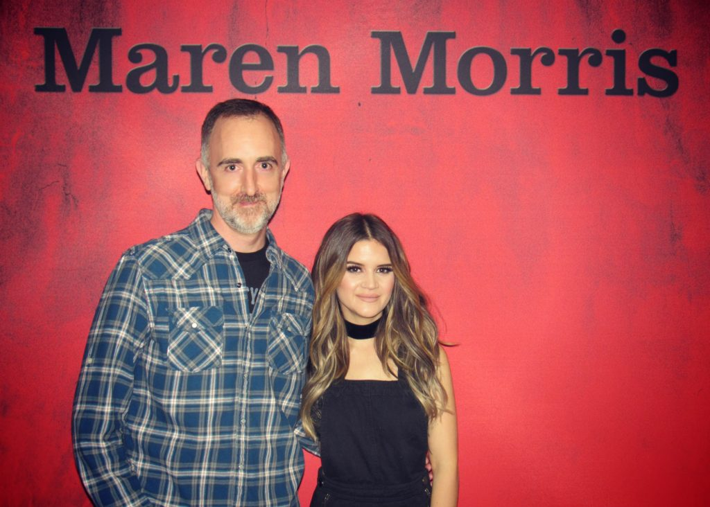 The Country Scene's Shawn St. Jean with Maren Morris at Brooklyn's Barclays Center on November 19, 2016.
