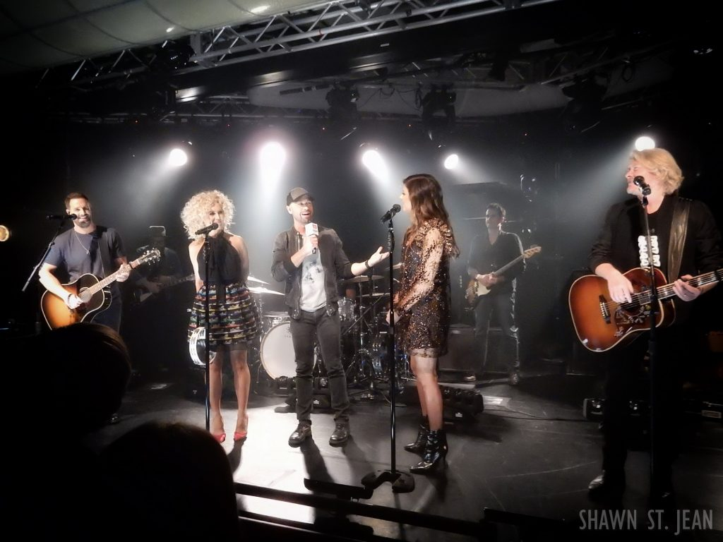 Little Big Town with CMT's Cody Alan at the iHeartRadio Theater in NYC.