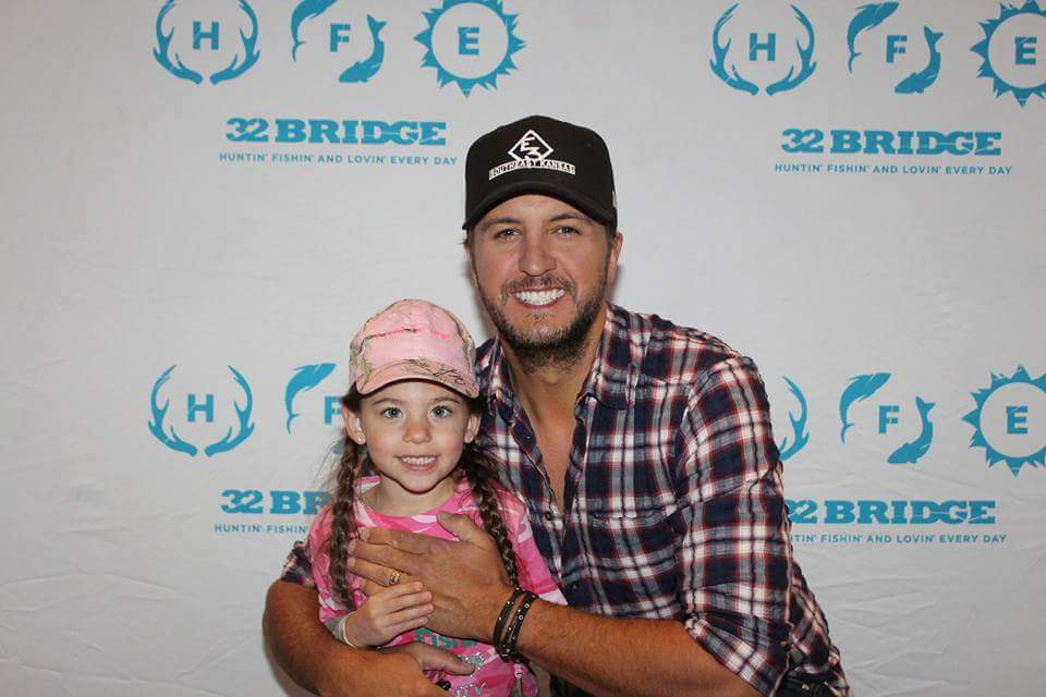 Jillian with Luke Bryan in Hartford on May 13, 2017 / Photo courtesy of Linda Holihan