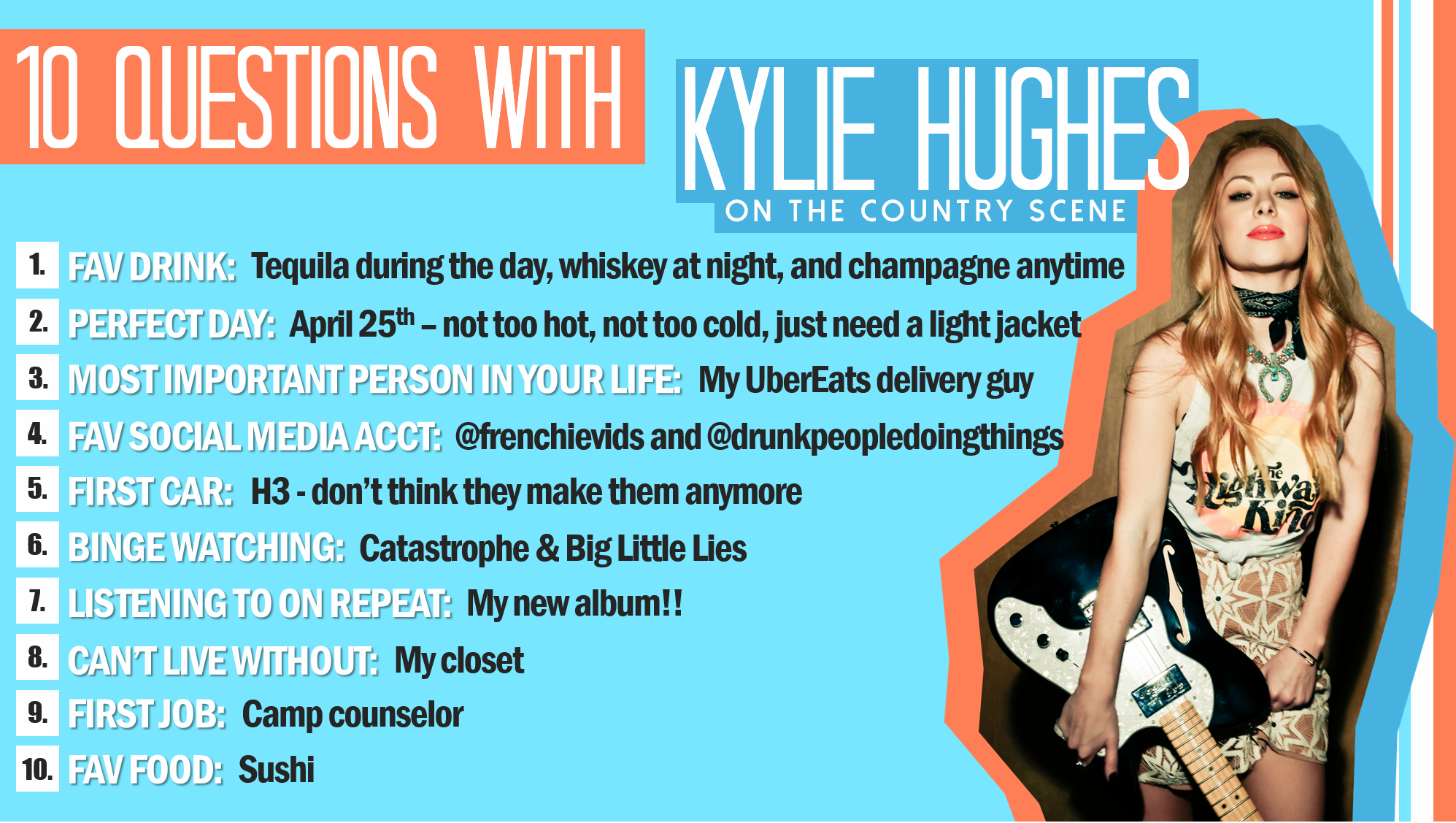 10 Questions With Kylie Hughes