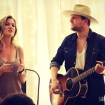 Native Run's Rachel Beauregard and Bryan Dawley performing at our house party.