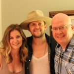 Native Run's Rachel Beauregard and Bryan Dawley with NASH FM 94.7's Jesse Addy at our house party.