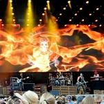 Brantley Gilbert performing at MetLife Stadium on August 15, 2015.