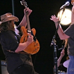 Chris and Morgane Stapleton at Forest Hills Stadium on July 23, 2016