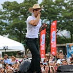 Dustin Lynch at FarmBorough Festival in New York City on June 28, 2015.