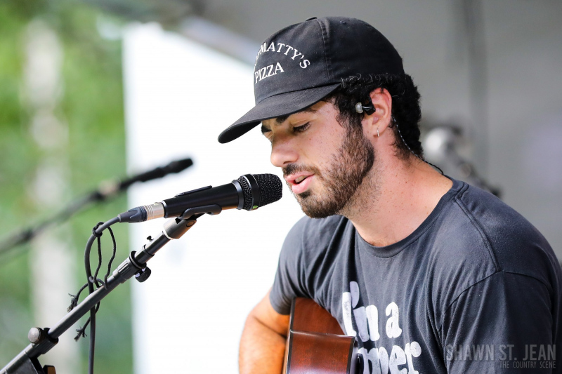 Dylan Hartigan opening for Maggie Rose in New Haven CT on July 22, 2021 at CT Folk's 'Folk at the Edge' concert series. Photo by Shawn St. Jean