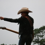 Justin Moore at FarmBorough Festival in New York City on June 27, 2015.