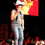Justin Moore opening for Brad Paisley at the Xfinity Theatre in Hartford CT on July 25, 2015.