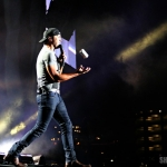 Luke Bryan at FarmBorough Festival in New York City on June 28, 2015.