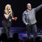 NASH FM 94.7's Kelly Ford and Jesse Addy introducing Luke Combs at Hammerstein Ballroom on Feb 28, 2019 / Photo by Shawn St. Jean