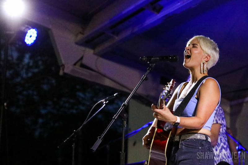 Maggie Rose with Them Vibes at CT Folk's 'Folk at the Edge' concert series in New Haven CT on July 22, 2021. Photo by Shawn St. Jean
