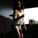 Mickey Guyton opening for Brad Paisley at the Xfinity Theatre in Hartford CT on July 25, 2015.