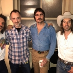 The Country Scene's Shawn St. Jean with Midland before their show at Radio City Music Hall.