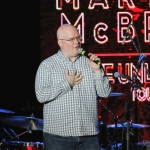 NASH FM 94.7's Jesse Addy introducing Martina McBride at the Playstation Theater in NYC on March 9, 2017.
