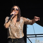 Sara Evans at the Woodstock Fair in Woodstock CT on September 1, 2014.
