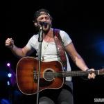Thomas Rhett opening for Miranda Lambert at the Xfinity Theatre in Hartford CT on August 30, 2014.