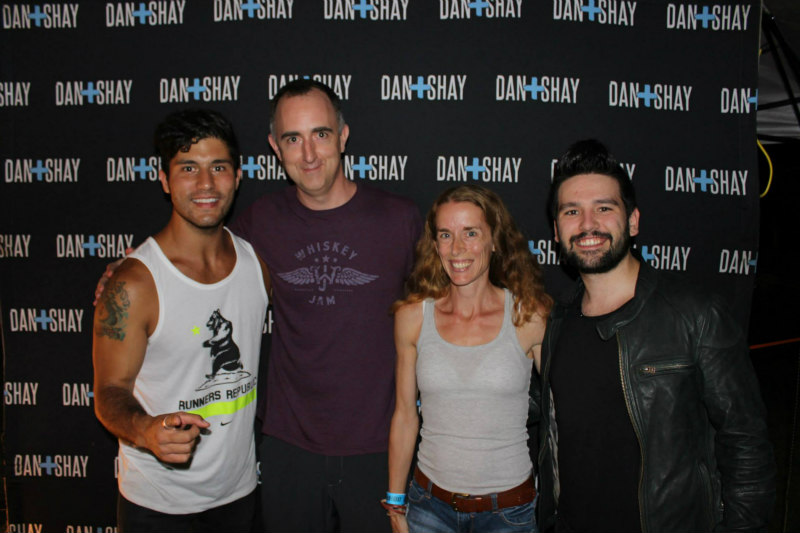 The Country Scene's Shawn & Jen St. Jean with Dan + Shay after the show.
