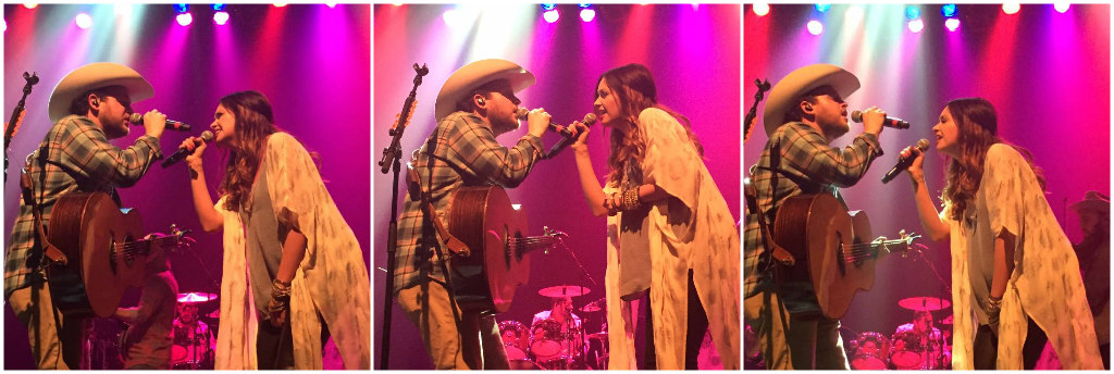 Josh Abbott with Carly Pearce - Photos by Jen Webb