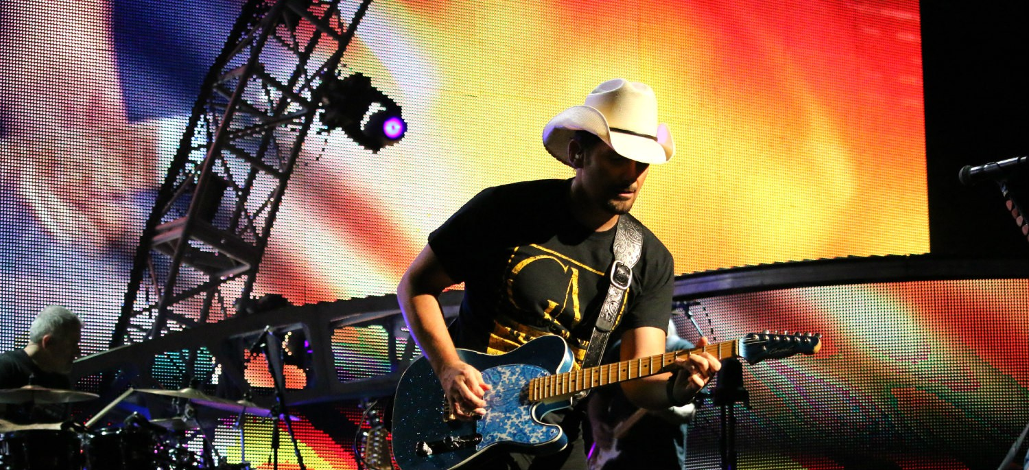 Brad Paisley at Xfinity Theatre in Hartford CT on July 25, 2015.