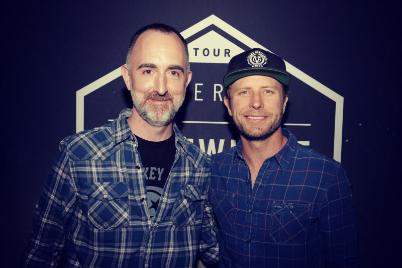 The Country Scene's Shawn St. Jean with Dierks Bentley at Xfinity Theatre in Hartford CT on June 10, 2016.