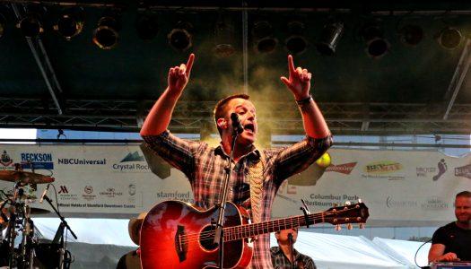 Easton Corbin Performs in Stamford CT's Columbus Park