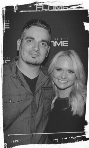 Miranda Lambert with Jeff Tudisca on August 26, 2016 at Gillette Stadium.