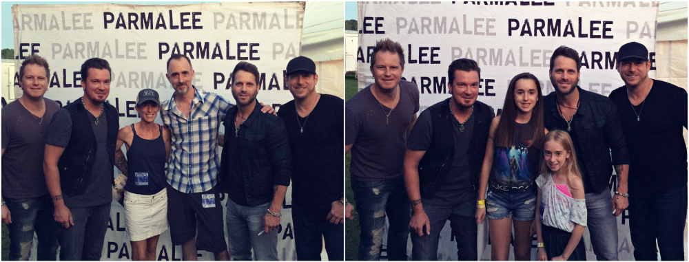 Parmalee with The Country Scene's Shawn & Jen St. Jean and kids in Rhinbeck NY on August 24, 2016.