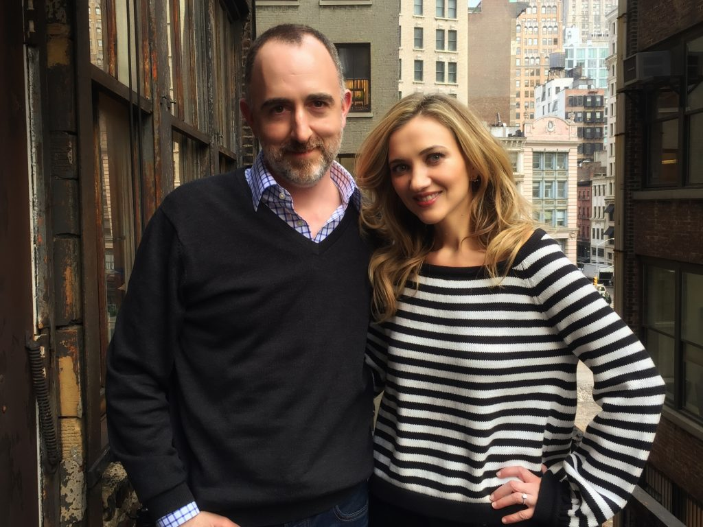 The Country Scene's Shawn St. Jean with Sarah Darling in NYC.