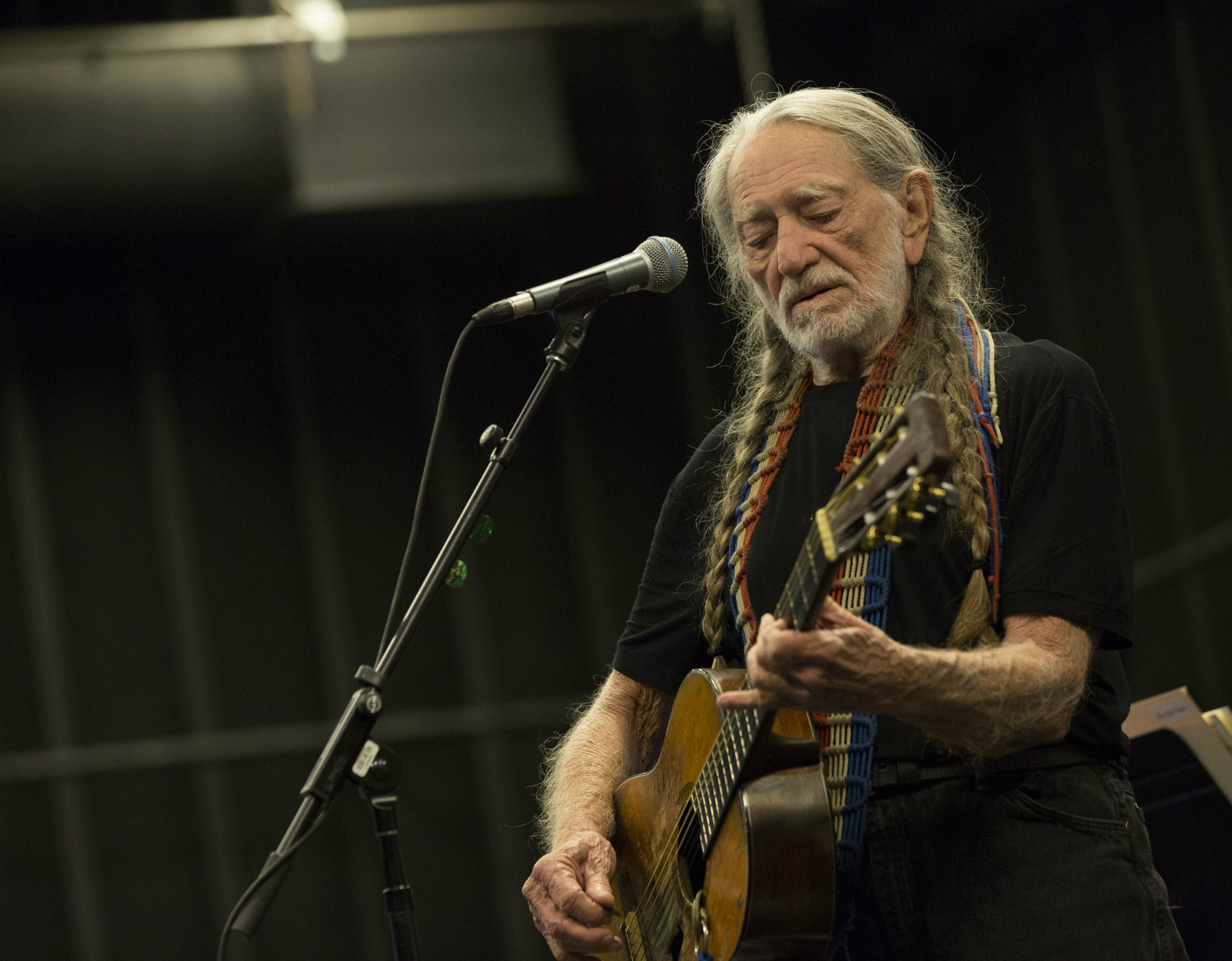 Willie Nelson / Photo by James Minchin / Courtesy of Shock Ink
