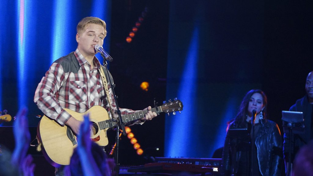 Caleb Lee Hutchinson, April 15, 2018. Photo courtesy of ABC / American Idol.