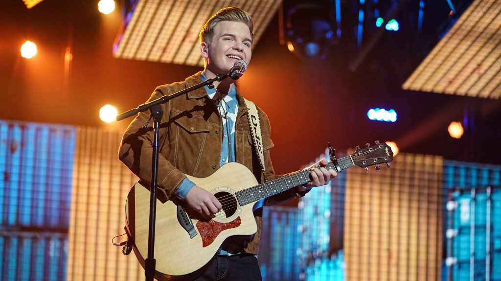 Caleb Lee Hutchinson, April 29, 2018. Photo courtesy of ABC / American Idol.