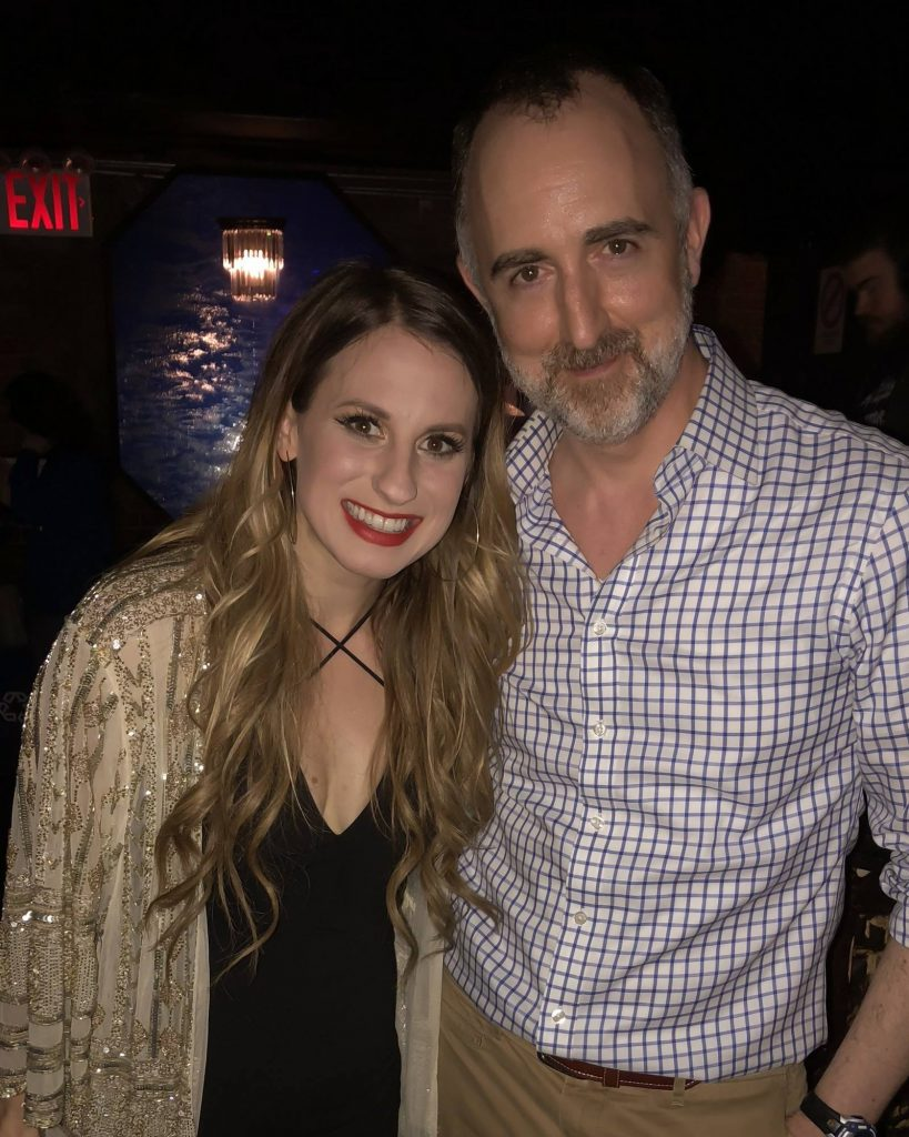 Caitlyn Smith with The Country Scene's Shawn St. Jean at Mercury Lounge, April 13, 2018.