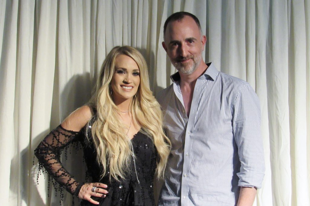 The Country Scene's Shawn St. Jean with Carrie Underwood in NYC on July 4, 2018