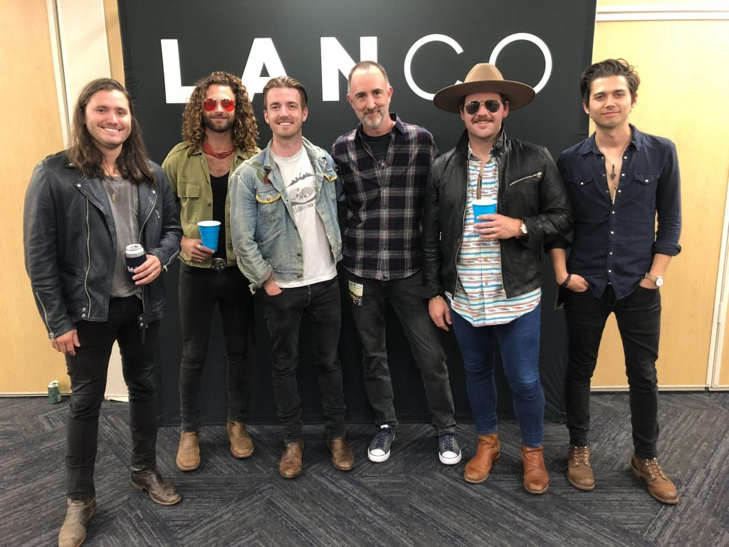 The Country Scene's Shawn St. Jean with Lanco at Madison Square Garden, September 8, 2018.