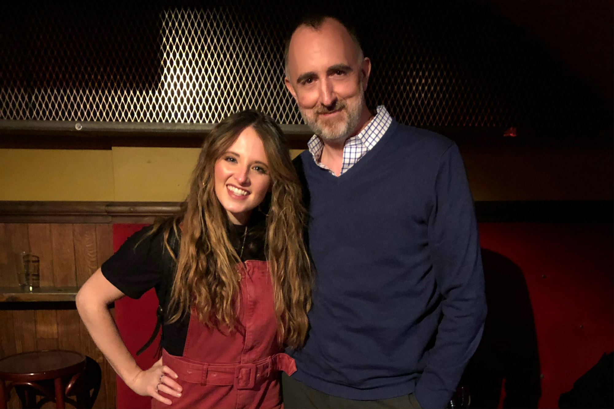 Emily Hackett with The Country Scene's Shawn St. Jean at Rockwood Music Hall, March 18, 2019