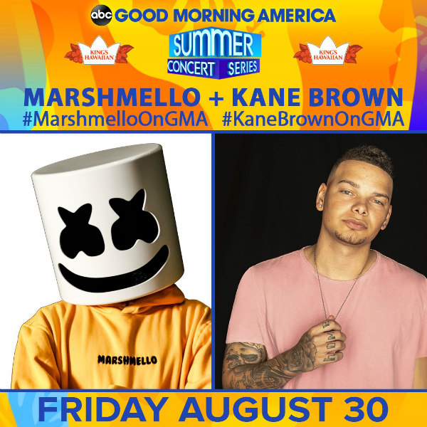 Kane Brown 2019 GMA Summer Concert Series