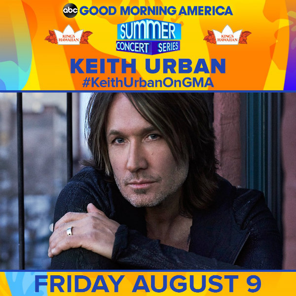Keith Urban 2019 GMA Summer Concert Series