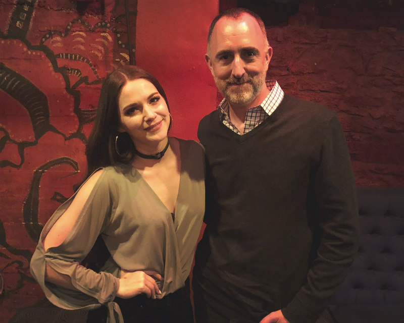 Hannah Ellis with The Country Scene's Shawn St. Jean at Gramercy Theatre, April 26, 2019